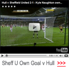 video kyle naughton own goal